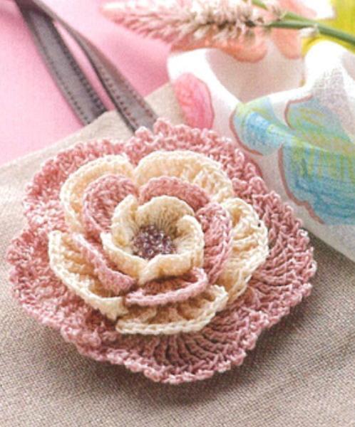 Gráfico Flor De Crochê Arteblog