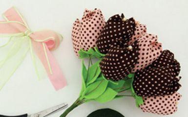 flores tecido tulipas