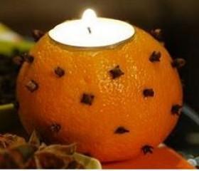 porta vela de laranja com cravo da india