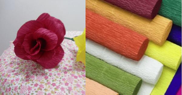 Flor De Papel Crepom Para Decorar Passo A Passo Arteblog