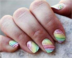 unhas do arco iris