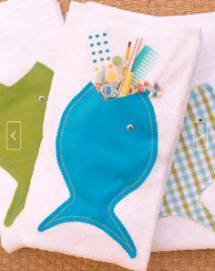 toalha de peixe porta coisas