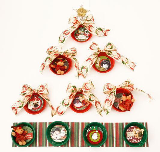 decoracao arvore de natal passo a passo:Árvore de Natal artesanal na parede – Passo a passo – Arteblog