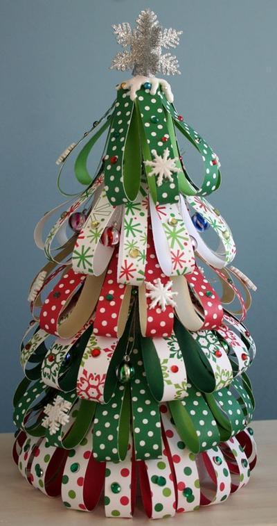 Aparador Zaiken ~ Artesanato de Natal com papel Passo a passo e fotos Arteblog