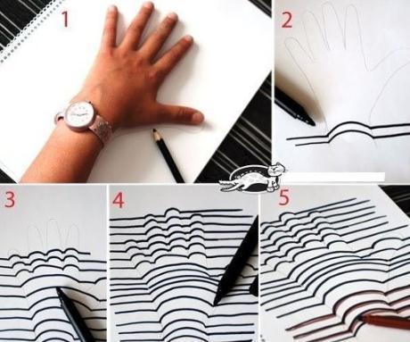 como fazer desenho   efeito 3d m o   passo a passo