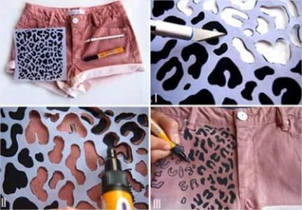 ideias para customizar roupas antigas e ganhar pe as novas arteblog. Black Bedroom Furniture Sets. Home Design Ideas