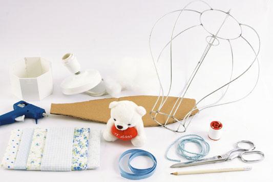 Decoração de quarto de bebê com artesanato Luminária em