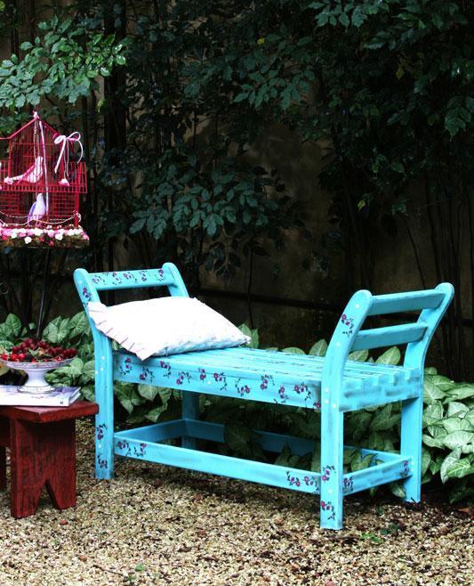 banco de jardim fazer:Como fazer banco de jardim decorado – Arteblog
