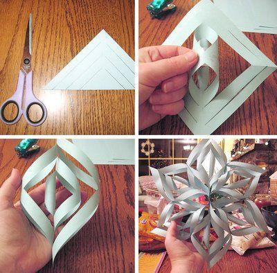 Como fazer la os passo a passo inspira o arteblog for How to make a big paper star