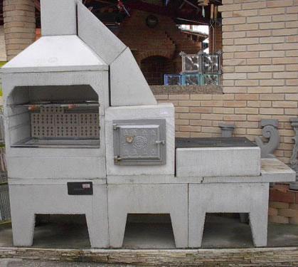 Churrasqueira forno e fogão a lenha de alvenaria