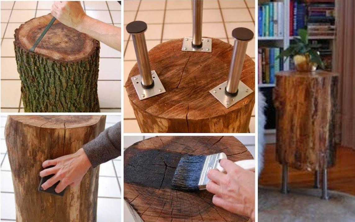 33 Pe As Decorativas E M Veis R Sticos De Madeira Bruta Arteblog -> Foto De Parede De Madeira