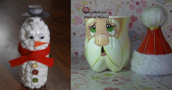 Aparador Sala De Estar ~ Artesanatos Com Garrafa PET Para Decorar No Natal Arteblog