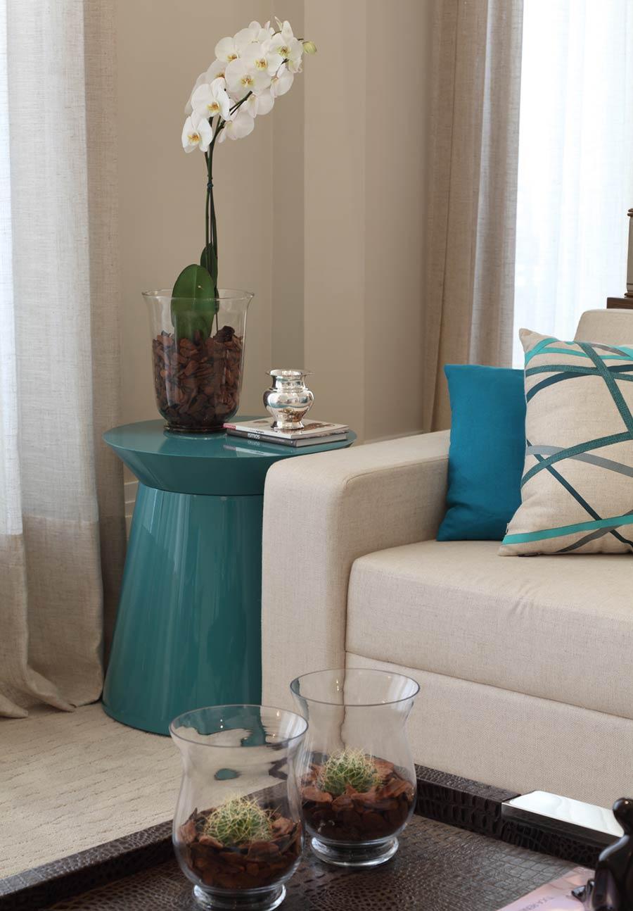 Decora o em cor azul turquesa bem estar para sua casa - Azul turquesa pared ...