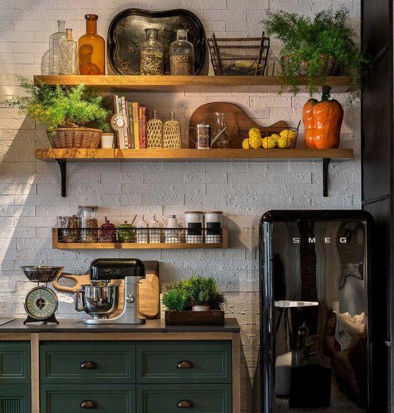Resultado de imagem para prateleiras cozinha